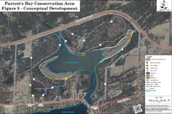 Aerial view of Parrott's Bay Conservation Area