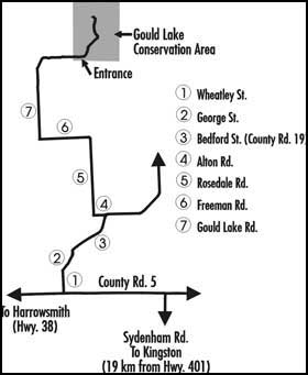 detailed map to Gould Lake Conservation Area
