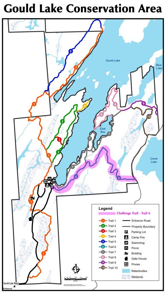 Gould Lake Map - Hike Challenge