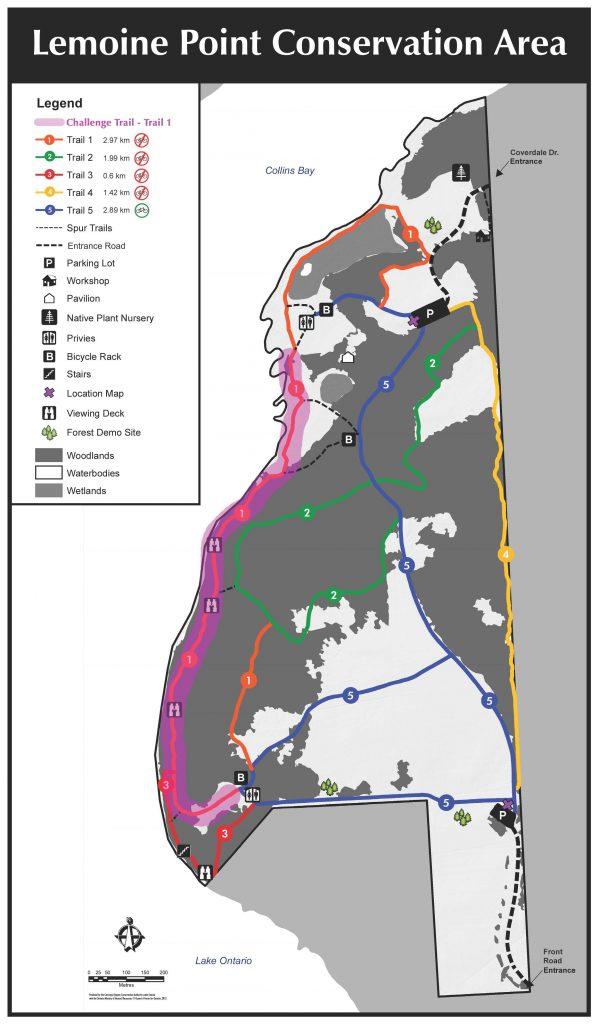 Lemoin Point Map - Hike Challenge
