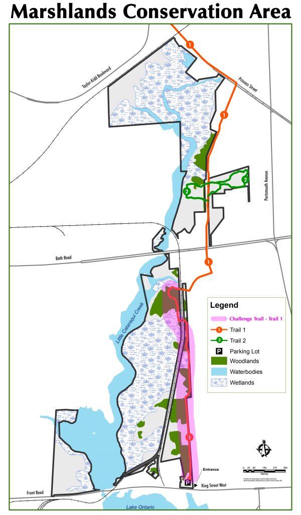 Marshlands Map - Hike Challenge
