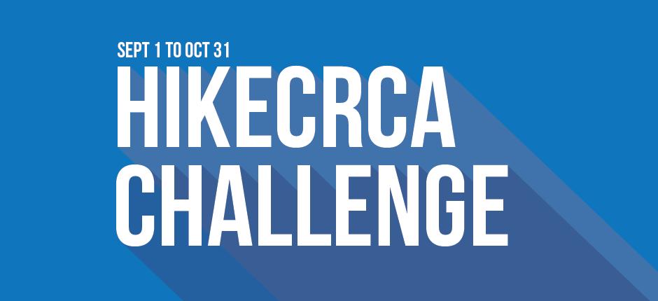 Hike CRCA Challenge - Sept. 1 to Oct. 31