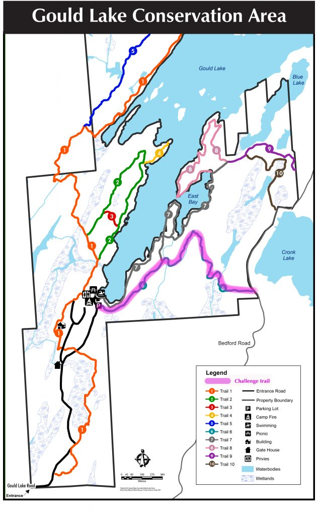 Gould Lake Conservation Area Map