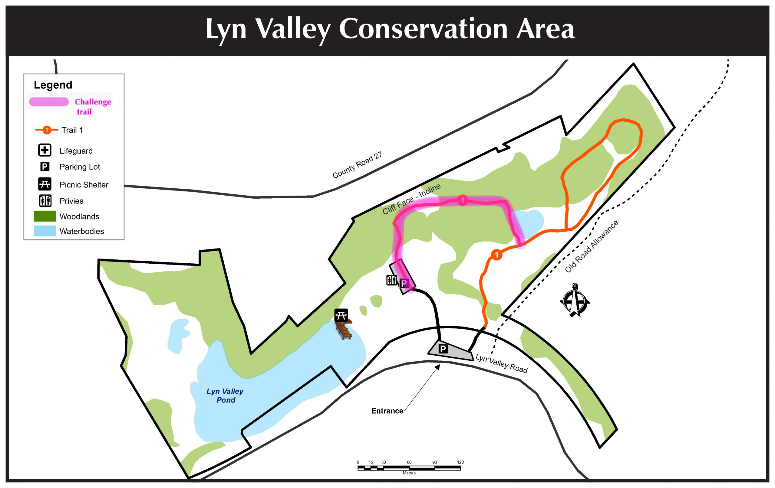 Lyn Valley Conservation Area Map