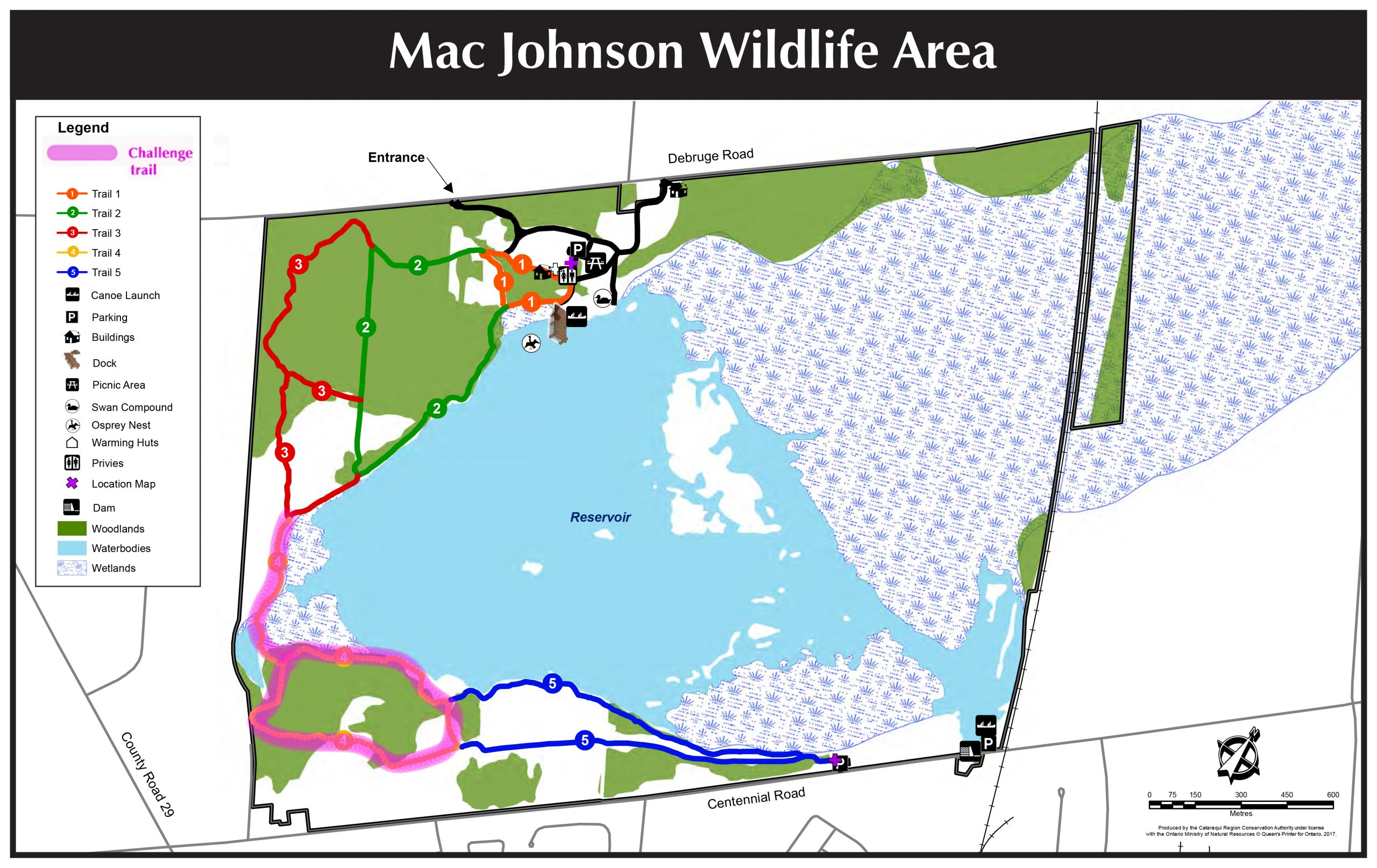 Mac Johnson Wildlife Area Map