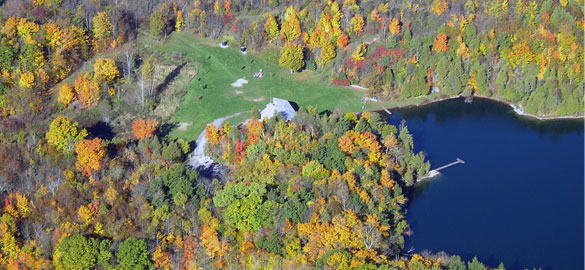Gould Lake - aerial view