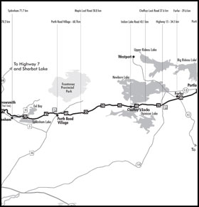 detailed map of Cataraqui Trail Access Points