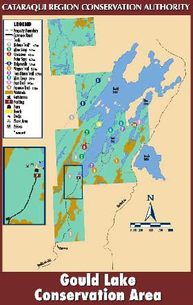 Gould Lake Conservation Area trail map