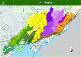 Cataraqui Region Conservation Authority watershed map