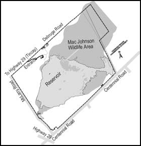 detailed map to Mac Johnson Conservation Area